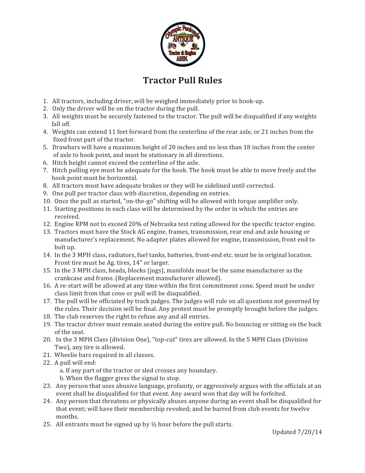 Tractor Pull Rules2016